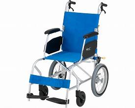 KALU7α(カルナナアルファ) Aパッケージ NAH-L7α 座幅40cm ライトブルー (車椅子 軽量 折り畳み 車イス 車いす 介助用 介護 折りたたみ式 お洒落 )【お買物マラソン】