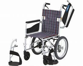 アルミ介助車いす NEO-2W 座幅42cm (車椅子 軽量 折り畳み 車イス 車いす 介助用 介護 折りたたみ式 お洒落 )( 母の日 プレゼント 2019 )
