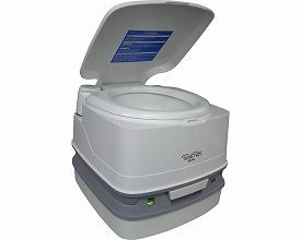 水洗式ポータブルトイレ ポルタポッティキューブピストンポンプ(簡易 洋式 介護用品  便器 便利グッズ  高齢者 老人 お年寄り 排泄)