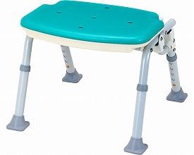介護用 風呂椅子 ソフテック ミドルタイプ 背なし(シャワーチェア シャワーベンチ いす 入浴介護用品 福祉用具 高齢者用 老人用 お年寄り)