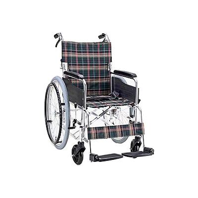 アルミ折りたたみ自走式車椅子 セレクト50 背折・介助ブレーキ付 KS50 [マキライフテック]送料無料 車いす 車イス介護用品 (介護 車 いす イス 折り畳み 軽量