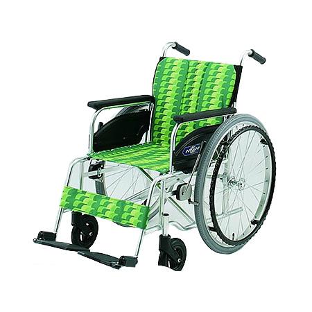 車椅子・折りたたみ自走用車椅子NA-406AS日進医療器自走 折りたたみ 車いす 車イス 介護用品 送料無料