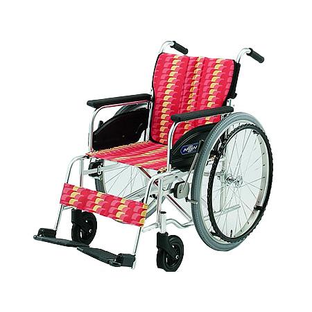 車椅子・折りたたみ自走用車椅子NA-406A日進医療器 自走 折りたたみ 車いす 車イス 介護用品 送料無料( 母の日 プレゼント 2019 )