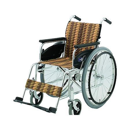 車椅子・折りたたみ自走用車椅子NA-467A日進医療器自走 折りたたみ 車いす 車イス 介護用品 送料無料