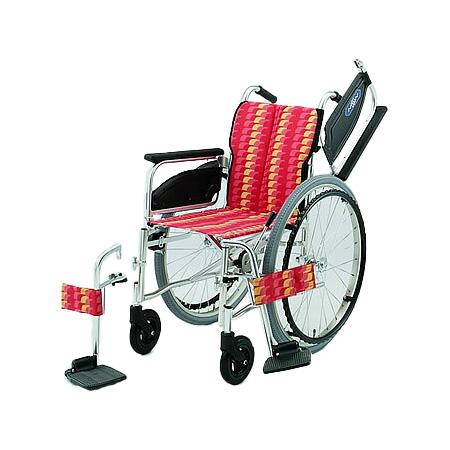 車椅子・折りたたみ自走用車椅子NA-466W日進医療器自走 折りたたみ 車いす 車イス 介護用品 送料無料