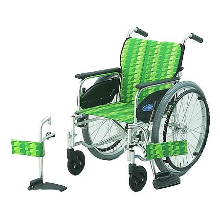 車椅子・折りたたみ自走用車椅子NA-406FO日進医療器自走 折りたたみ 車いす 車イス 介護用品 送料無料