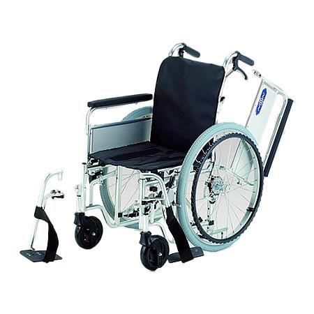 車椅子・折りたたみ自走用車椅子モジュール車椅子EX-M[低床フレーム]日進医療器自走 折りたたみ 車いす 車イス 介護用品 送料無料