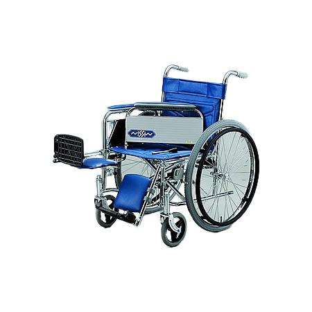 車椅子・折りたたみ自走用車椅子ND-14 [肘掛け着脱式・エレベーティング]日進医療器自走 折りたたみ 車いす 車イス 介護用品 送料無料