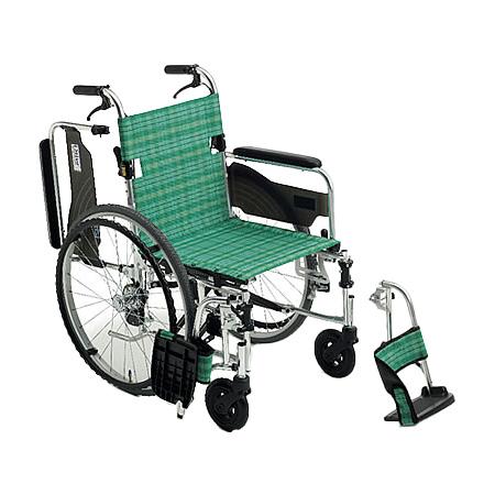 車椅子 軽量・折りたたみ自走用車椅子LS-43RDMiki/ミキ 自走 折りたたみ 車いす 車イス 介護用品 送料無料( 母の日 プレゼント 2019 )