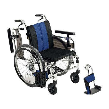 車椅子・折りたたみ自走用車椅子MYU4-22Miki/ミキ自走 折りたたみ 車いす 車イス 介護用品 送料無料