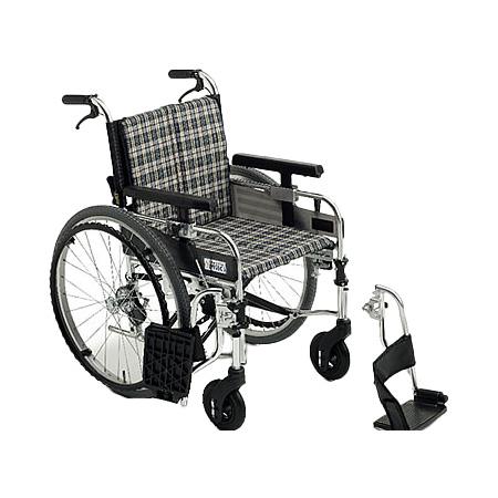 車椅子・折りたたみ自走用車椅子MYU226JDSWMiki/ミキ自走 折りたたみ 車いす 車イス 介護用品 送料無料