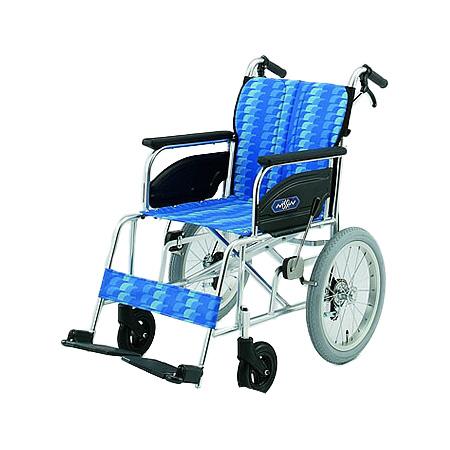 車椅子 軽量・折りたたみ介助用車椅子NAH-446A日進医療器自走 折りたたみ 車いす 車イス 介護用品 tcmt  (介護用品/介護車いす/車イス/折り畳み)