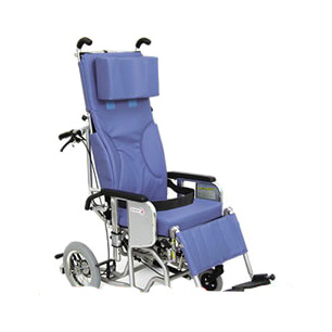 車椅子・フルリクライニング&ティルティング あい&ゆうき《クリオネット》 AYK-40[足ベルトタイプ]カワムラサイクル車いす/車イス/介護用品
