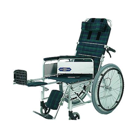 リクライニング車椅子・自走用車椅子NA-117B [肘掛け着脱式・エレベーティング]日進医療器 リクライニング 車いす 車イス 介護用品 送料無料【敬老の日 プレゼント ギフト】