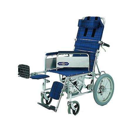 リクライニング車椅子・介助用車椅子NA-118B [肘掛け着脱式・エレベーティング]日進医療器リクライニング 車いす 車イス 介護用品 送料無料