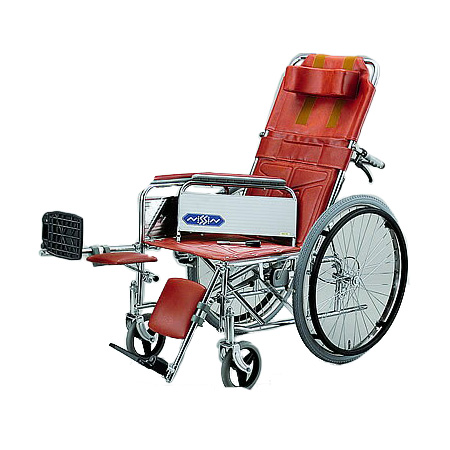 リクライニング車椅子・自走用車椅子ND-15 [肘掛け着脱式・エレベーティング]日進医療器リクライニング 車いす 車イス 介護用品 送料無料 ( 老人 )