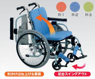アルミ自走用車椅子REM-1000 AHモジュールタイプ[背折りたたみ][エアハブ付]車いす 送料無料 松永製作所