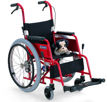 アルミ製子供用車椅子 KAC-NB32[30/28](カワムラサイクル)(車椅子 関連) )  (福祉介護)/座幅 前座高
