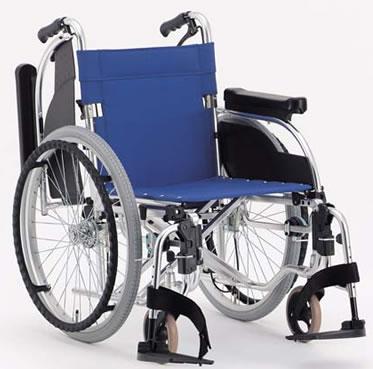 アルミ折りたたみ自走用車椅子AR-501車いす 送料無料  松永製作所  座幅