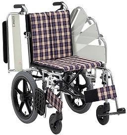 アルミ折りたたみ介助用車椅子 ニューウィングMWSC-16ミキMiki送料無料  介助式 介助用福祉介護用品車いす車イス