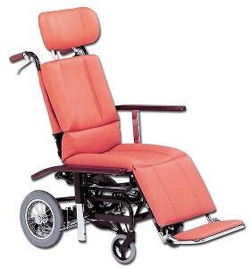 ティルト&フルリクライニング車椅子 NHR-7車いす 送料無料  ティルト機構 リクライニング日進医療器
