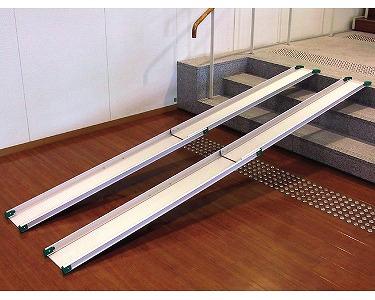 車椅子 スロープ・車椅子用段差解消スロープテレスコピックスロープ1841[150cm](車いす 車イス 玄関用 階段用)