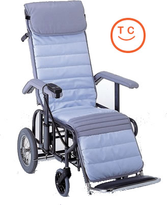 リクライニング車椅子[介助タイプ]フルリクライニング3型[電動・背・足・連動]車いす 送料無料  リクライニング松永製作所