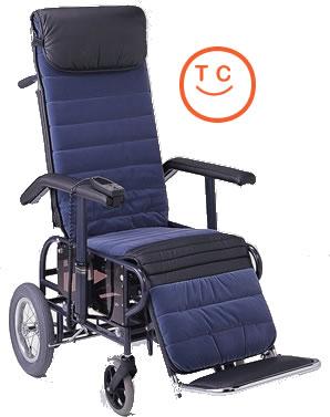 リクライニング車椅子[介助タイプ]フルリクライニング6型[電動・背・足・連動/電動座高調節式]車いす 送料無料  リクライニング松永製作所