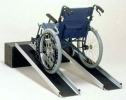 車椅子 スロープ・車椅子用段差解消スロープポータブルワイドアルミスロープ 2本1組[50cm](車いす 車イス 玄関用 階段用)