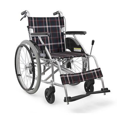 [カワムラサイクル]アルミ折り畳み自走式ノーパンク車椅子(KJ0302)