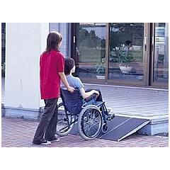 車椅子用段差解消スロープアルミシステムスロープ 基本セット1.5mタイフ / PVX150-3[左右パネル各1枚、中間パネル1枚、計3枚]
