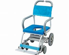 シャワーキャリー 送料無料 くるくるチェアD / KRU-172 O型穴有り車いす 送料無料  入浴用車椅子 介護用品 福祉用具 入浴用品 お風呂用品