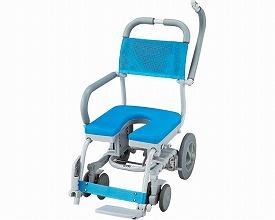 シャワーキャリー 送料無料 シャワーラク 4輪自在 SWR-132 U型シートタイプ 車いす 送料無料 入浴用車椅子 介護用品 福祉用具 入浴用品 お風呂用品【母の日 プレゼント 実用的 花以外】