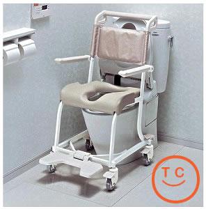 TOTO水まわり用車椅子4輪キャスタータイプ[ソフトシート仕様]送料無料  介護用品 入浴 入浴用品 お風呂用品 車いす シャワーキャリー