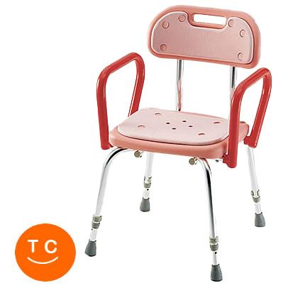 介護用 風呂椅子 シャワーチェア 背付・背付シャワーイスSC-23 ピンク ハイグリップ付シャワーチェア 送料無料 立ち上がり バスチェア イス いす )( 母の日 プレゼント 2019 )