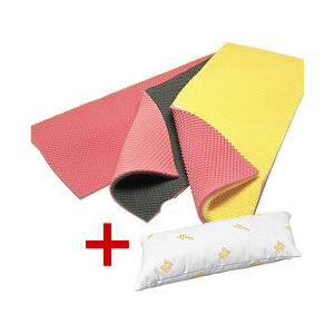 体圧分散 低反発ウレタンフォームソフトナースマイクロ グレー/ピンク [マイクロクッション付き]厚さ4.0cm ラックヘルスケア 送料無料 介護用品 床ずれ防止