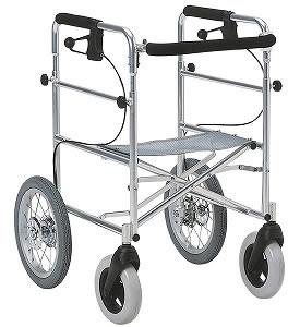 シルバーカー・歩行器室外用歩行器りき車アルミタイプ[介護用品][リハビリ]歩行訓練