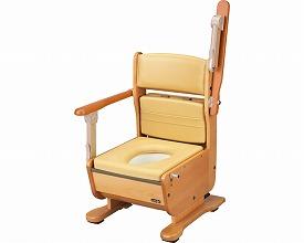 ポータブルトイレ 送料無料 さわやかチェア泉 肘掛けはね上げ / 8257 ブラウン ホット便座  介護用品 福祉用具