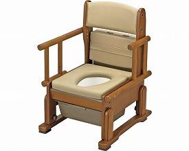 ポータブルトイレ 送料無料 さわやかチェアCH 肘掛け自在 / 8240  介護用品 福祉用具