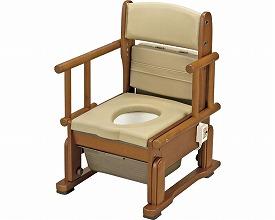 ポータブルトイレ 送料無料 さわやかチェアCH 肘掛け自在 / 8242 ホット便座タイプ  介護用品 福祉用具
