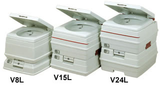 ビザ・ポータブル水洗トイレ[8L]  (介護用品 介護 福祉用具   )