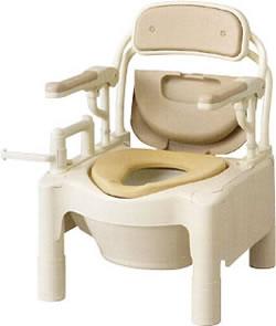 安寿 ポータブルトイレFX-CP「はねあげ」快適脱臭[ノーマルタイプ] トイレ 消臭  (ポータブルトイレ簡易トイレ 介護用 非常用  介護用便座 介護 トイレ 介護用品 トイレ    )