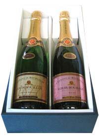 「ギフトに最適!ソムリエも推薦のスパークリングワインはとても繊細で透明感のあるフレッシュタイプ! お箱付きでおのしや包装も承っております!」 クレマン・ド・ブルゴーニュ(ルイ・ブイヨ)スパークリング紅白セット ロゼ・泡・辛口白・泡・辛口 ギフト