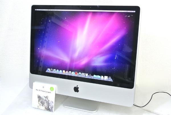 Apple iMac 24inch C2D-2.8GHz/3GB/320GB/DVDRW/AirMAC/OS10.6.3 【20131125】:TCEダイレクト店