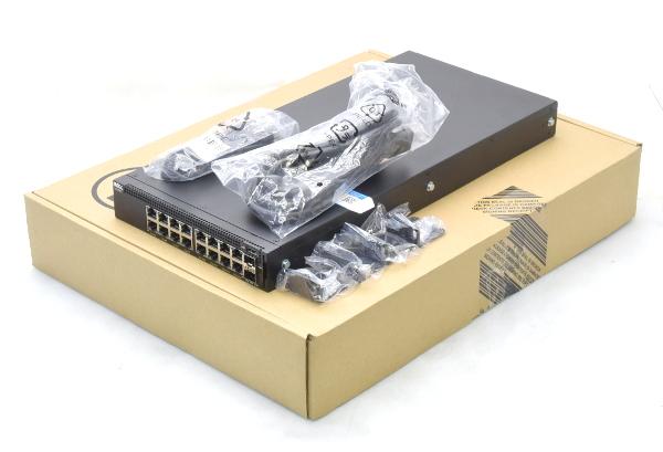 DELL X1018P スマートマネージドスイッチ VLAN/LACP PoE対応1000BASE-Tx16ポート SFPx2ポート 設定初期化済 【中古】【20170223】
