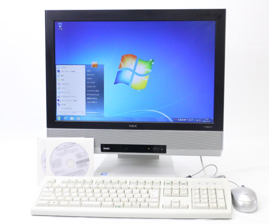 NEC Mate MK25T/GF-H Core i5-4200M 2.5GHz 4GB 250GB アナログRGB出力 DVD+-RW 19インチWXGA+ 1440x900ドット Windows7Pro32bit 【中古】【20171122】