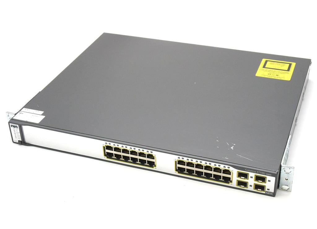NEC (Cisco OEM) WS-C3750G-24TS-S1U V03 C3750-IPBASEK9-M 12.2(37)SE 設定初期化済 【中古】【20180221】