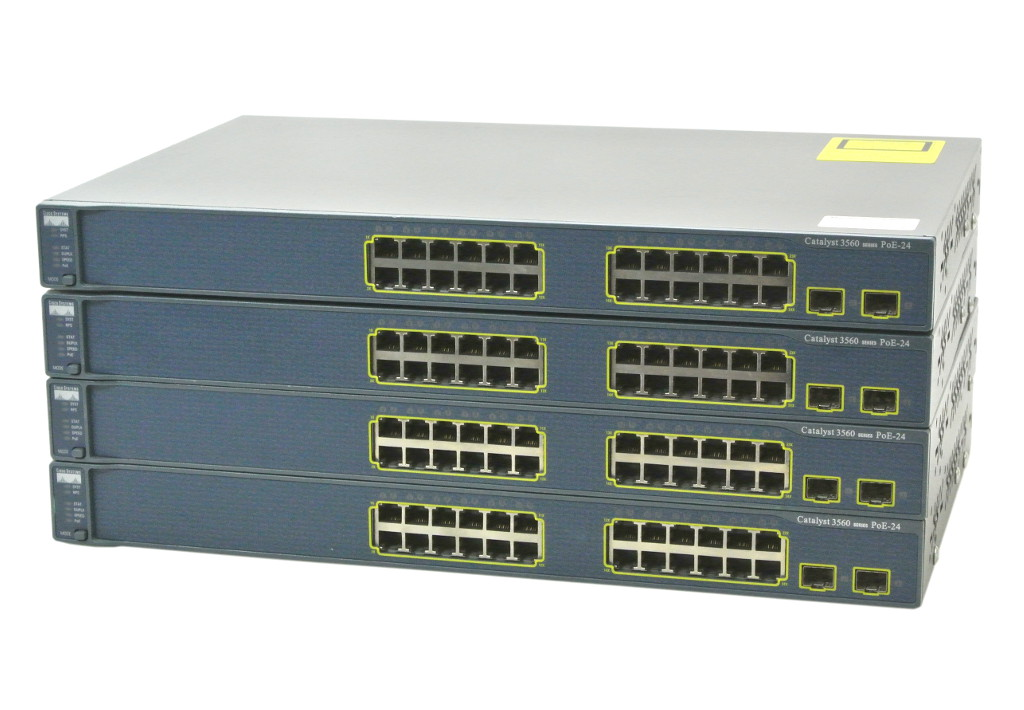 Cisco WS-C3560-24PS-S V05 一部不良あり 4台セット IPBASE IOS起動確認済 複数ポートPoE使用不可 JUNK 【中古】【20180322】
