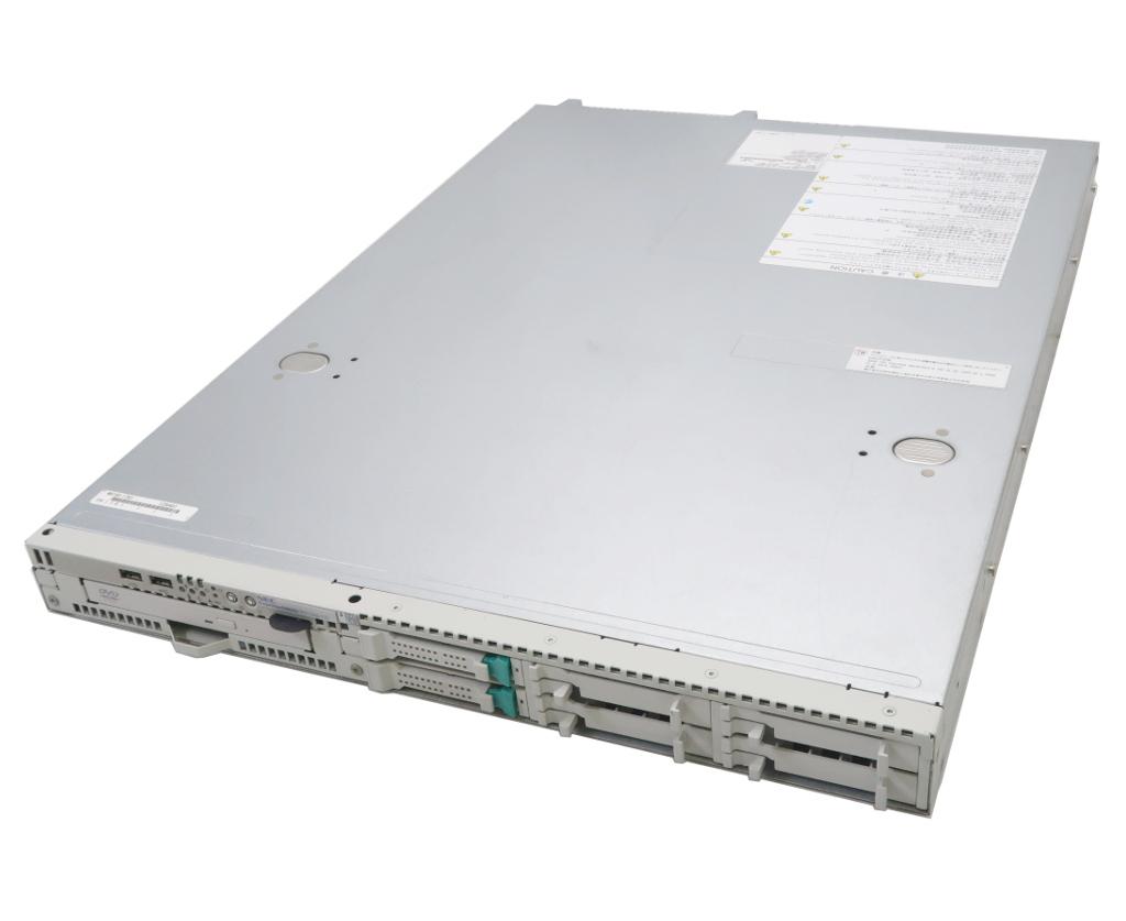 NEC Express5800/R110d-1E Pentium G620 2.6GHz 4GB 146GBx2台(SAS2.5インチ/6Gbps/RAID1) DVD-ROM LSI Mega RAID SAS 9264-8i 【中古】【20180403】