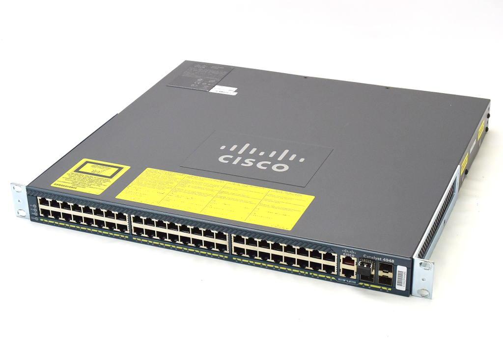 Cisco Catalyst 4948 WS-C4948-S V08 cat4500-IPBASEK9-M Ver.12.2(53)SG2 PWR-C49-300AC WS-X4991 AC電源2基 設定初期化済 【中古】【20180405】